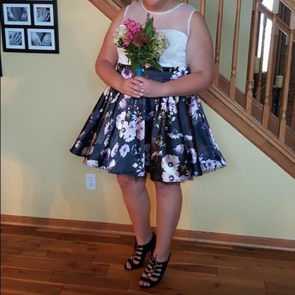 Custom floral plus size Hoco dress